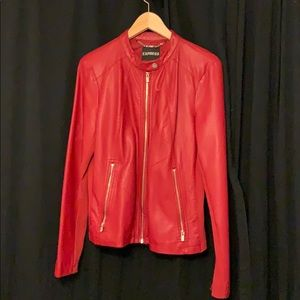 Red leather jacket from Express